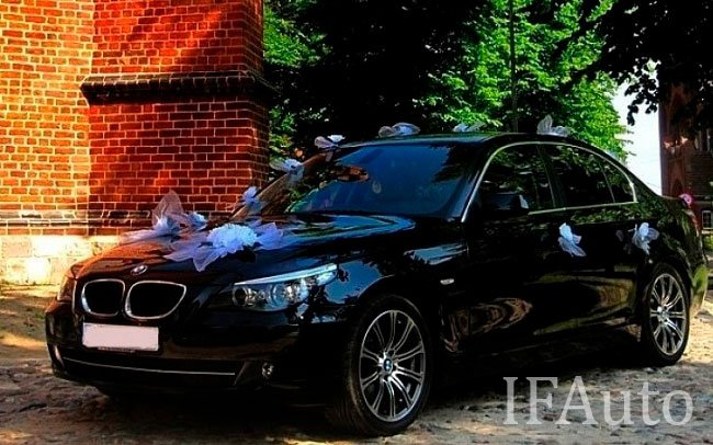 Аренда BMW 5 E60 на свадьбу Івано-Франківськ